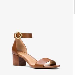 MIchael Michal Kors Lena Leather Sandal Size 8